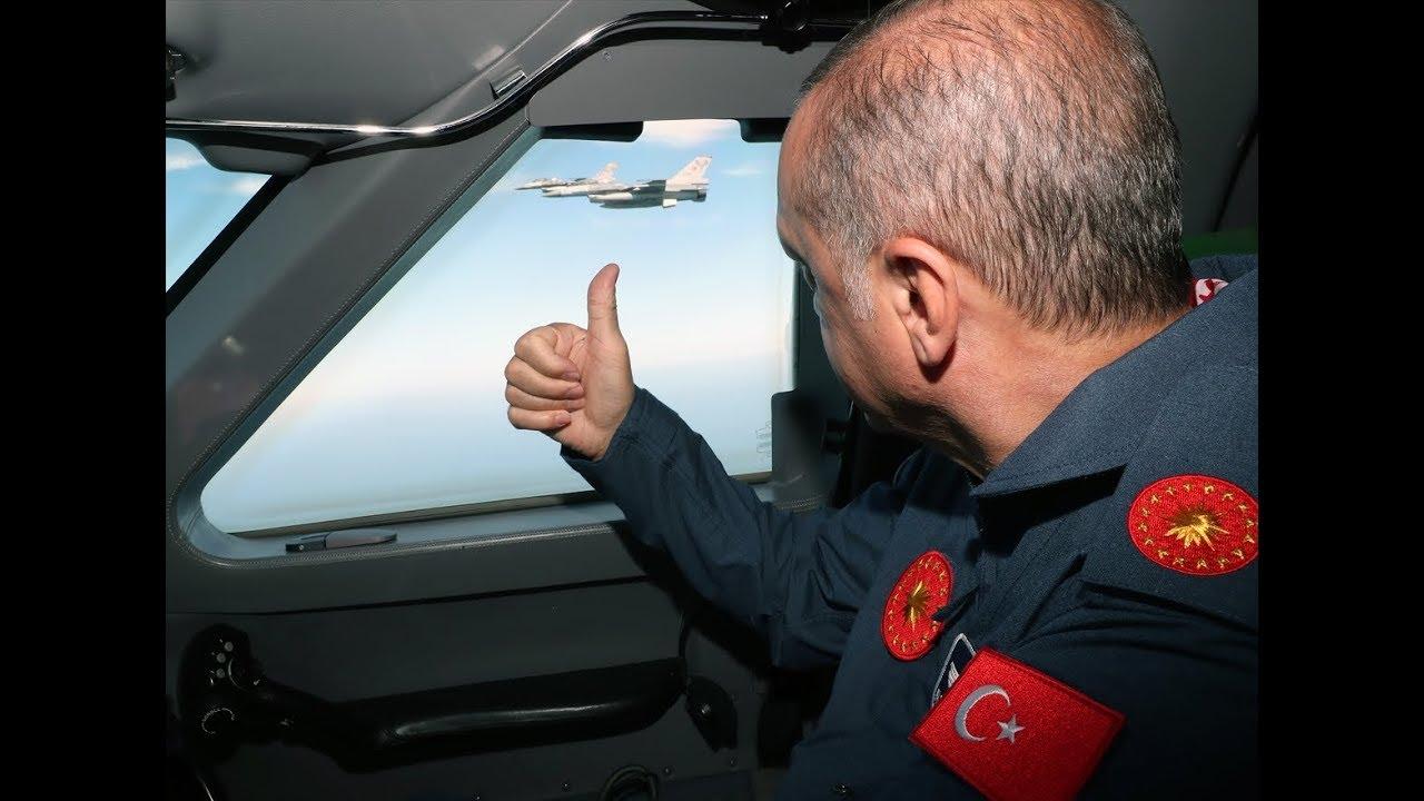 Cumhurbaşkanı Erdoğan F-16'lar eşliğinde Teknofestist'te - YouTube