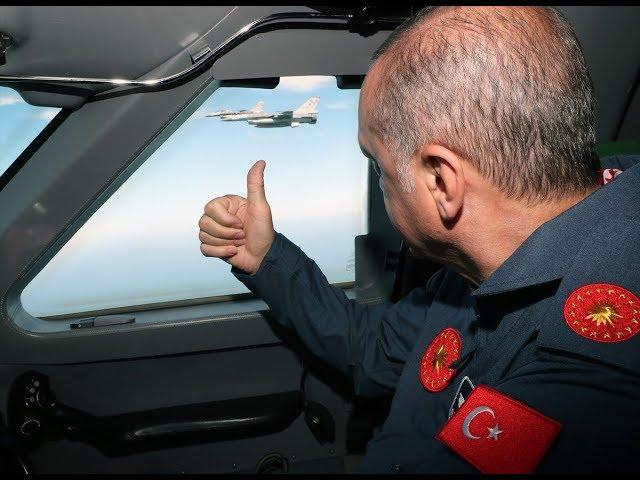 Cumhuraşkanı Erdoğan F-16'lar eşliğinde Teknofestist'te