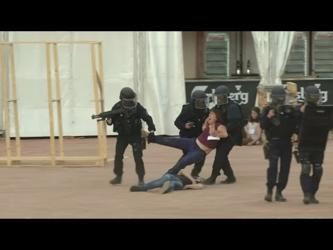 Lyon holds security drill ahead of the Euros