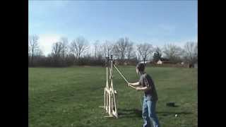 6 Foot Floating Arm Trebuchet With Plans in Description