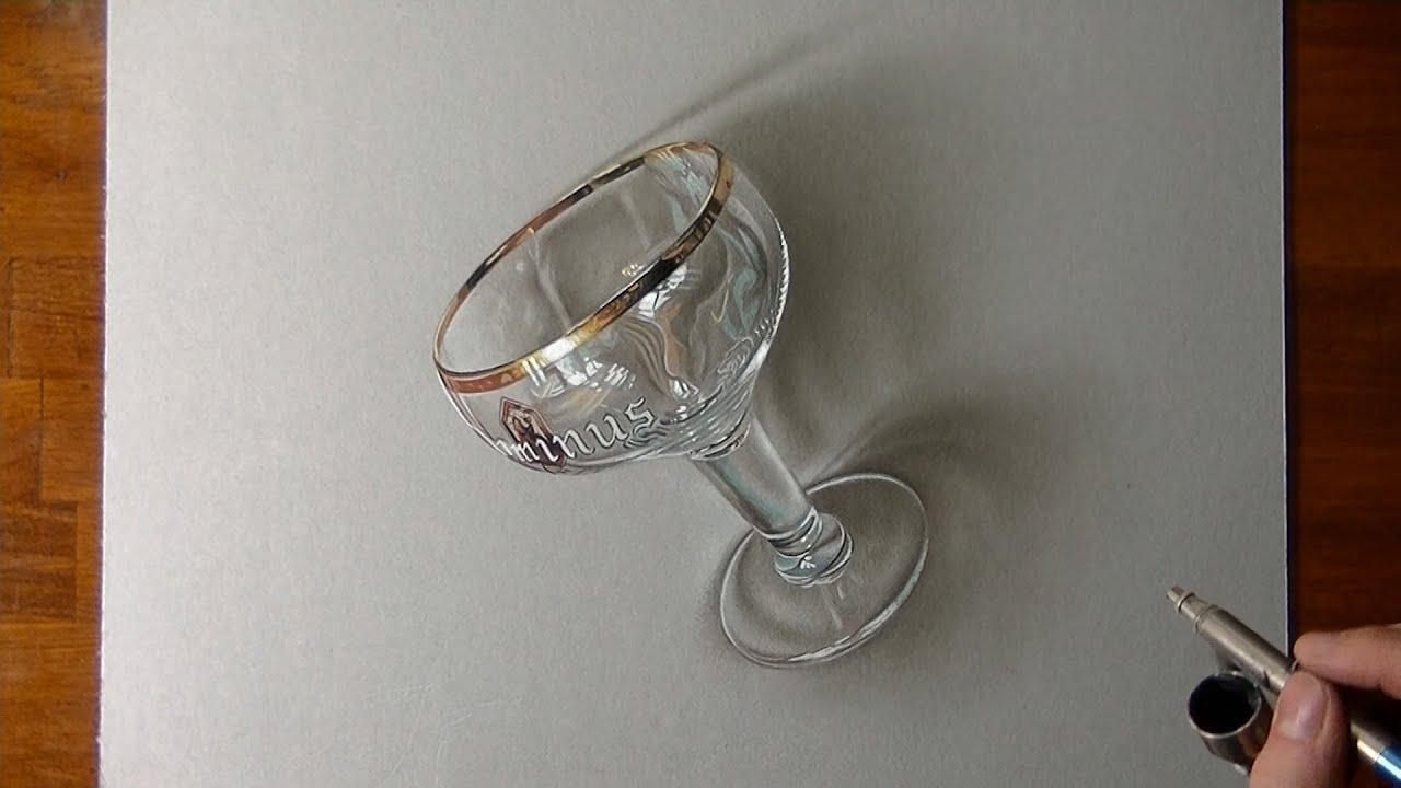 Disegno realistico in timelapse bicchiere da birra youtube for Disegno 3d free