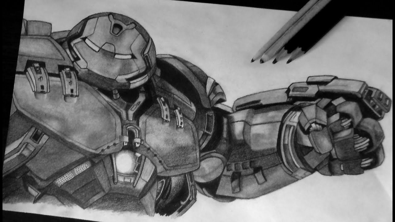 Avenger Age Of Ultron Sketch: Hulkbuster Suit, Avengers; Age Of Ultron