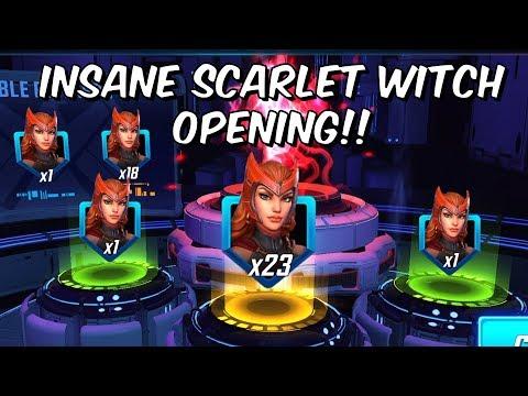 INSANE Scarlet Witch Opening & Endgame Blitz Gameplay! - Marvel Strike Force