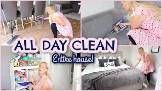 ALL DAY CLEAN WITH ME 2020! ENTIRE HOUSE | CLEANING MOTIVATION