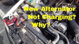 95 Volvo 940 Failed Alternator Wire - YouTube   Volvo 940 Alternator Wiring Diagram      YouTube