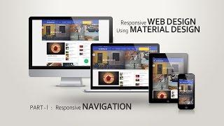 create responsive navigation menu bar using material design 2015