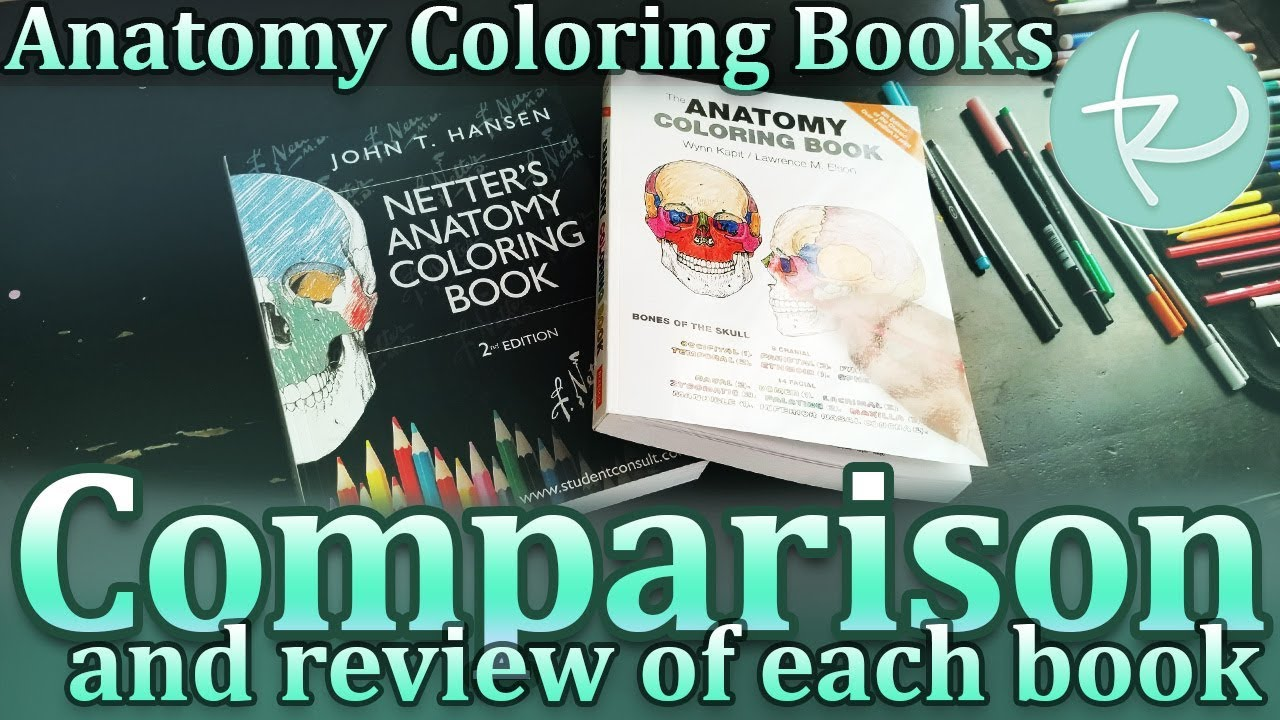Coloring Book Review: Anatomy Coloring Books Comparison! Coloring Cells is  Fun!