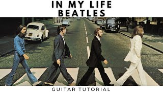Beatles - In My Life (Guitar Tutorial) Easy Chords