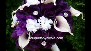 DIY Brooch Bouquet Real Touch Calla Lilies Silk Roses Wedding Project