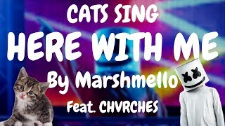 Cats Sing Here with Me feat. CHVRCHES by Marshmello | Cats Singing Song Video