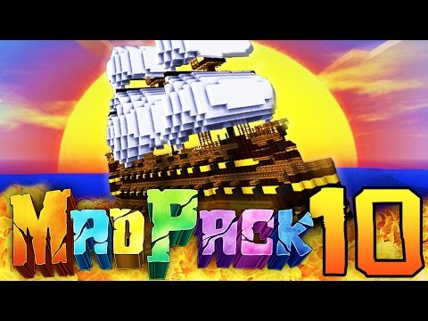 """Minecraft MAD PACK 2: """"MASSIVE SHIPS!"""" Episode 10 (Poofless, Pirate Ships, Exploration!)"""