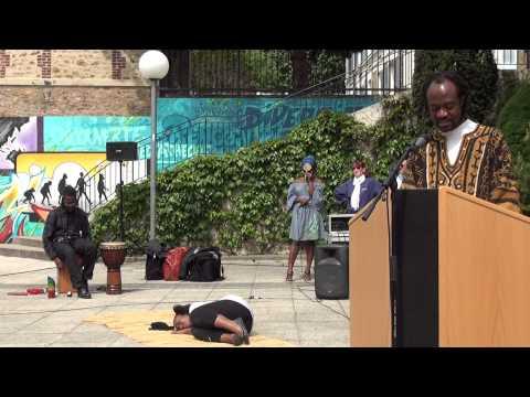 Première représentation d'un spectacle sur l'esclavage. 18 mai 2013 ave l'association l'Arche