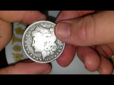 How to clean glue and grime from old coins!