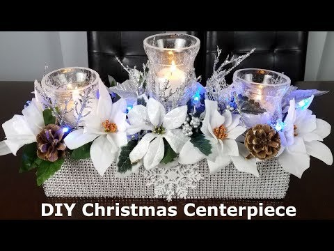 Centerpiece ideas: DIY Christmas Glam Centerpiece