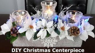 Centerpiece ideas: DIY Christmas Glam Centerpiece