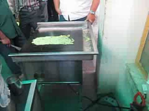 Rava Dosa making on Commercial Induction Tawa