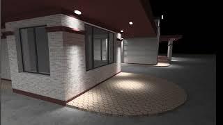 Фасадное освещение входной группы вариант 1