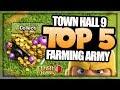 TH 9 TOP 5 FARM ATTACK STRATEGIES FOR BIG LOOT | BEST TH 9 FARMING STRATEGIES | Clash of Clans