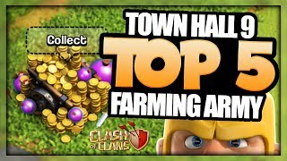 TH 9 TOP 5 FARM ATTACK STRATEGIES FOR BIG LOOT | BEST TH 9 FARMING STRATEGIES | Clash of Clans