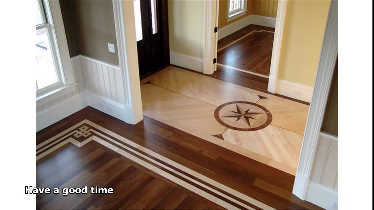 Hardwood floor inlays youtube for Hardwood floor designs
