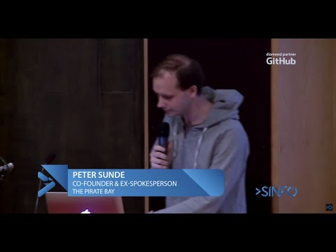 SINFO Conf 2015 - Peter Sunde (The Pirate Bay)