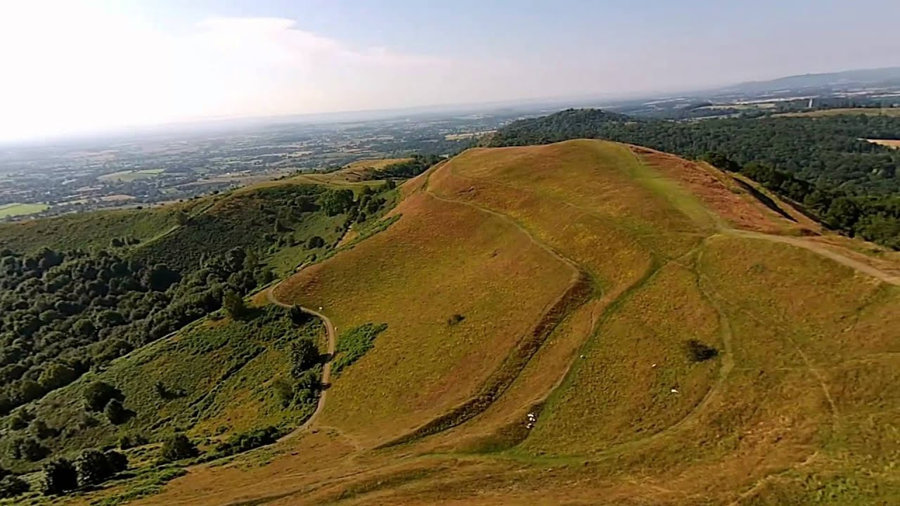 magnificent malvern hills aerial views of british camp