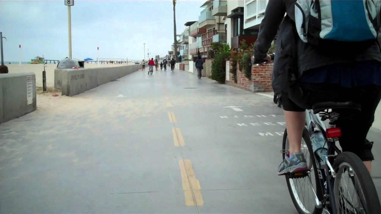Hermosa Beach Bike Path Ride W Cam