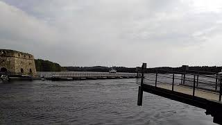 как работает разводной мост в Савонлинне, Финляндия