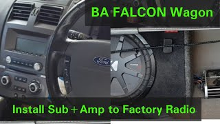 How to connect Subwoofer to factory radio ICC Ba/Bf Falcon