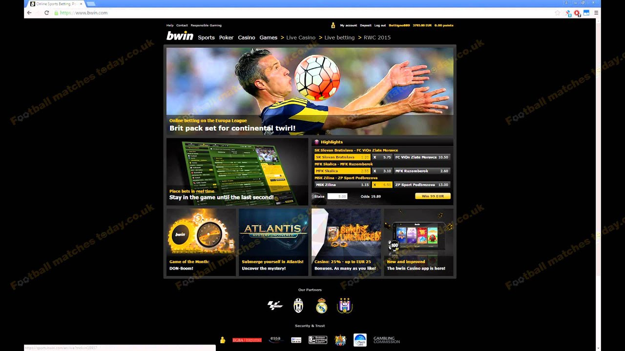 Bwin soccer betting software can i bet on the kentucky derby online