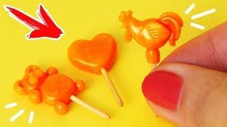 🌟ЛЕДЕНЦЫ для КУКОЛ 😍 ПЕТУШОК НА ПАЛОЧКЕ !!! 💖 ЕДА для кукол 😍 FIMO Мастер класс Анна Оськина(, 2017-09-16T12:19:10.000Z)