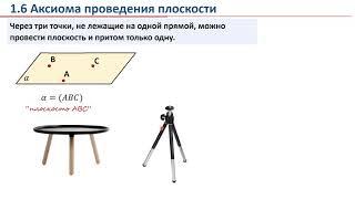 Урок 01. Введение в стереометрию. Аксиомы стереометрии.