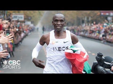 Eliud Kipchoge Breaks the 2 Hour Marathon Barrier in Vienna   INEOS 1:59 Challenge   CBC Sports