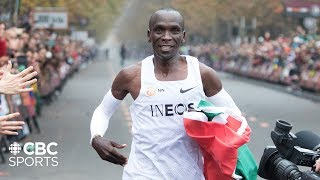 Eliud Kipchoge Breaks the 2 Hour Marathon Barrier in Vienna | INEOS 1:59 Challenge | CBC Sports