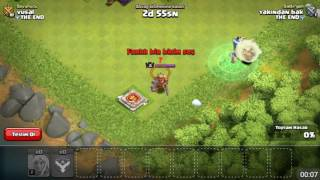 Barbar kral vs vs cadi clash of clans