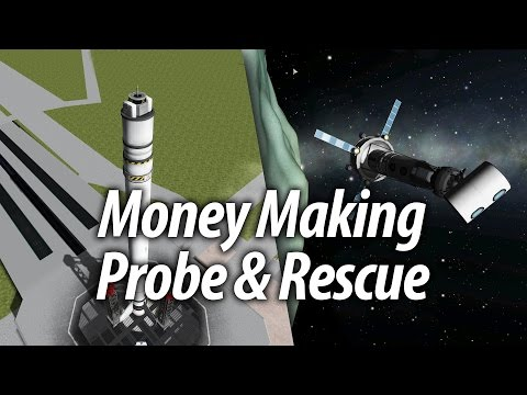 Money Making Probe & Rescues (Beginner Tutorial: 11) - Kerbal Space Program (KSP) 1.1 Stock Career