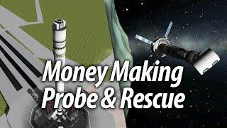 Money Making Probe & Rescues (Beginner Tutorial: 11) - Kerbal Space Program (KSP) 1.1 Stock Career