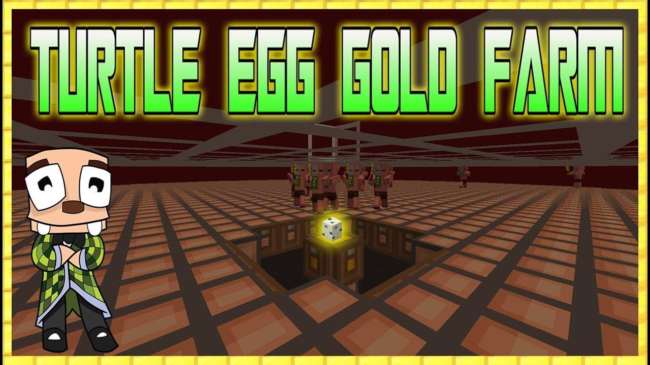 Minecraft 11.111 Turtle Egg Gold Farm Tutorial