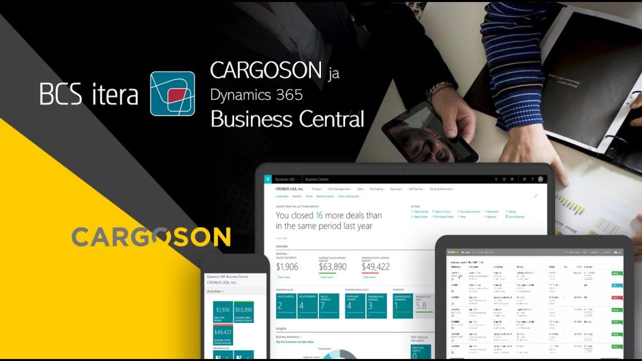 Transpordi planeerimise lahendus Cargoson ja Dynamics 365 Business Central