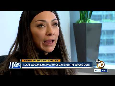Local woman says pharmacy gave her the wrong dose