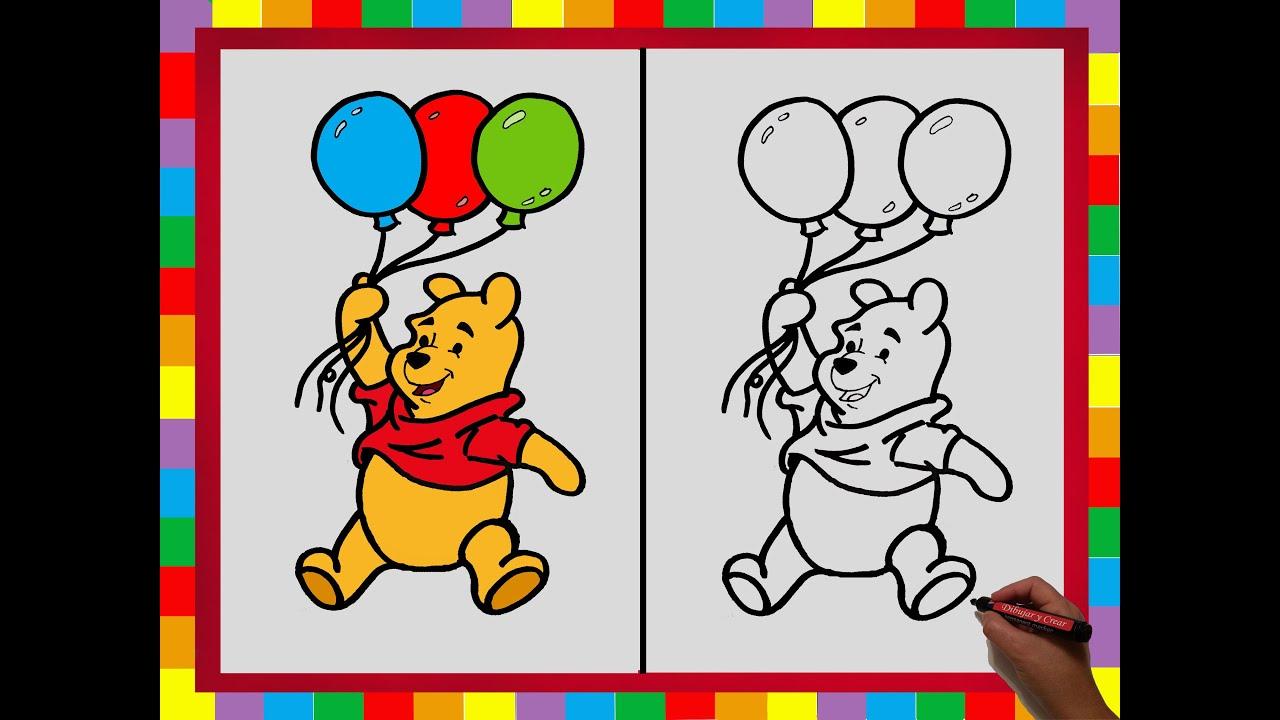 Como dibujar Winnie Pooh paso a paso / How to Draw Winnie Pooh step ...