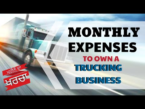 Monthly Expenses To Own A Trucking Business - CANADA & US