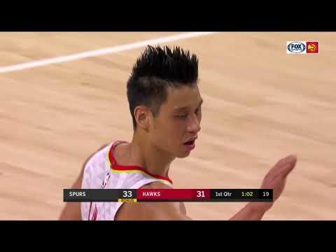 Jeremy Lin Hawks VS Spurs 10/10/2018