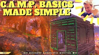 Fallout 76 - C.A.M.P Basics Made Simple (Building, Blueprints, Crafting Guide, Tutorial)