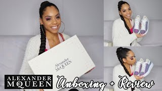 GLITTER ALEXANDER MCQUEEN SNEAKER UNBOXING & REVIEW | Are they OVERHYPED?