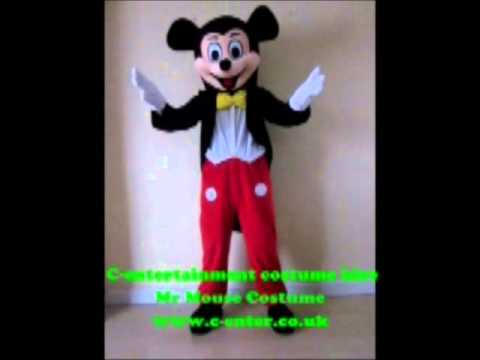 Costume Hire - Fancy dress - Mr Mouse - Birmingham & Costume Hire - Fancy dress - Mr Mouse - Birmingham - YouTube