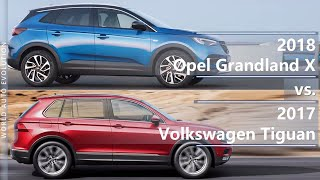 2018 Opel Grandland X vs 2017 Volkswagen Tiguan (technical comparison)