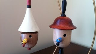 Turning Bird House Ornaments