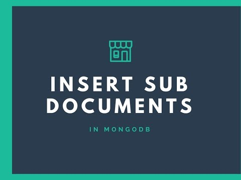 Creating subdocuments in mongodb