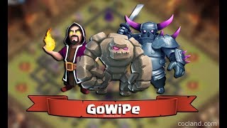 Best ground attack strategy for TH9 and TH8(GOWIPE) |COC|
